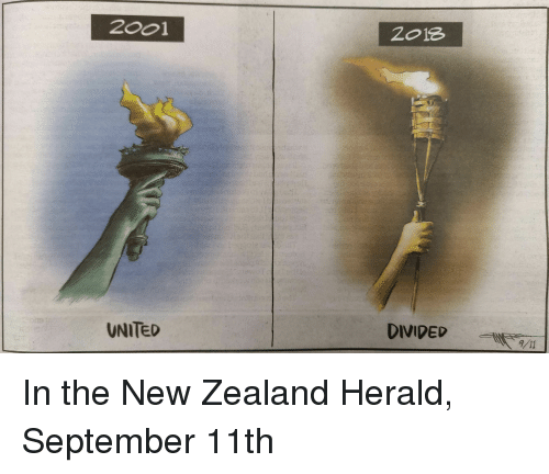New Zealand United And September 2001 2o18 Divided 11 In The