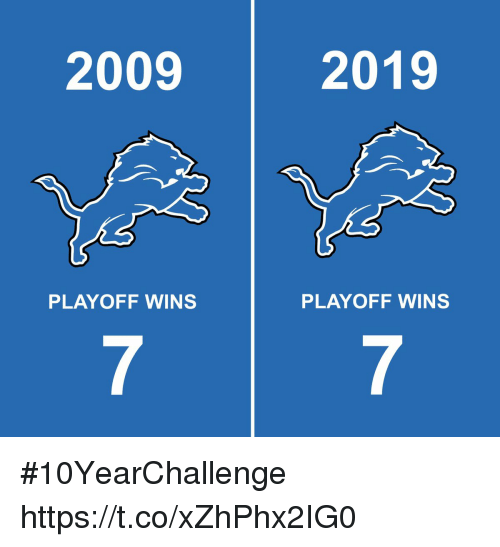 Football, Nfl, and Sports: 2009  2019  PLAYOFF WINS  PLAYOFF WINS  7  7 #10YearChallenge https://t.co/xZhPhx2IG0