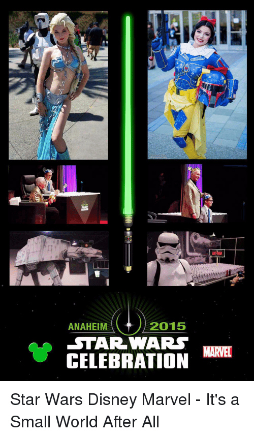 Disney, Star Wars, and Marvel: 2015  ANAHEIM  STAR WARS  CELEBRATION  MARVEL Star Wars Disney Marvel - It's a Small World After All