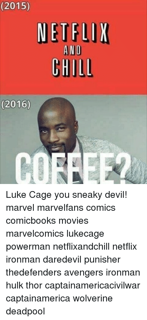 2015 NETFLIX ANI CHILD 2016 Luke Cage You Sneaky Devil! Marvel
