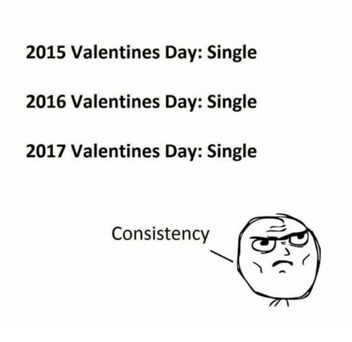 Toll Memes, 🤖, And Valentines Day Single: 2015 Valentines Day: Single 2016 Valentines  Day: Single 2017 Valentines Day: Single Consistency