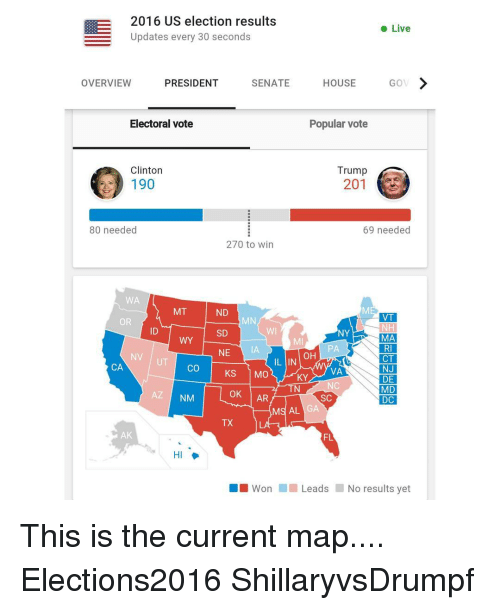 2016 US Election Results Live Updates Every 30 Seconds ...