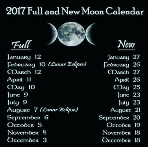 Full Moon August 2019: 2017 Full And New Moon Calendar New January 27 January 12