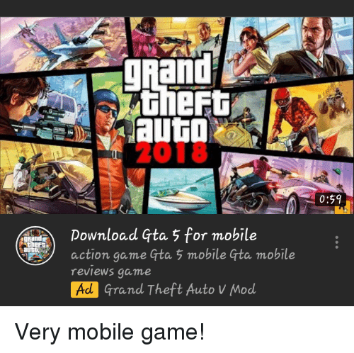 2018 059 Download Gta 5 for Mobile Action Game Gta 5 Mobile
