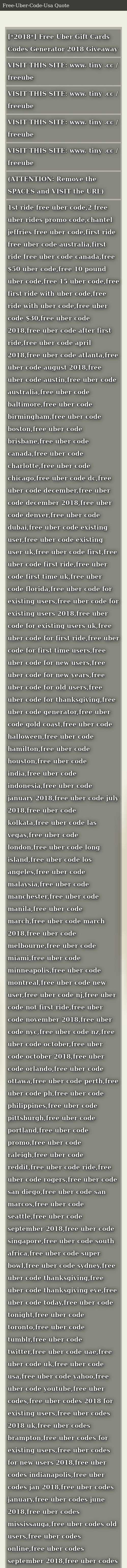 2018* Free Uber Gift Cards Codes Generator 2018 Giveaway