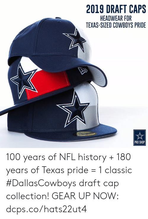 hot sale online c35f2 e5a16 2019 DRAFT CAPS HEADWEAR FOR TEXAS-SIZED COWBOYS PRIDE PRO ...