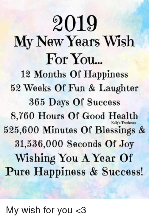 1 Year 12 Months 52 Weeks 365 Days Quotes: 2019 My New Years Wish For You 12 Months Of Happiness 52