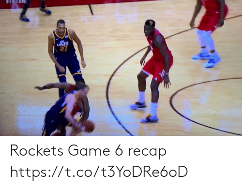 Nba, Sports, and Game: 2019 NBA PLAYOIRS Rockets Game 6 recap https://t.co/t3YoDRe6oD