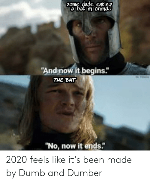 2020 Feels Like It S Been Made By Dumb And Dumber Dumb Meme On Me Me