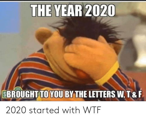 2020 Started With Wtf Wtf Meme On Me Me