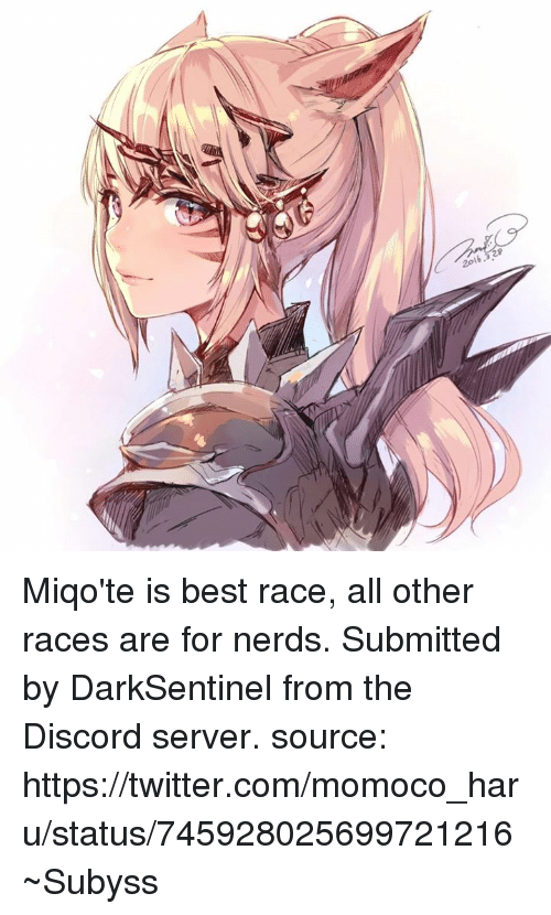 20l Miqo'te Is Best Race All Other Races Are for Nerds Submitted by