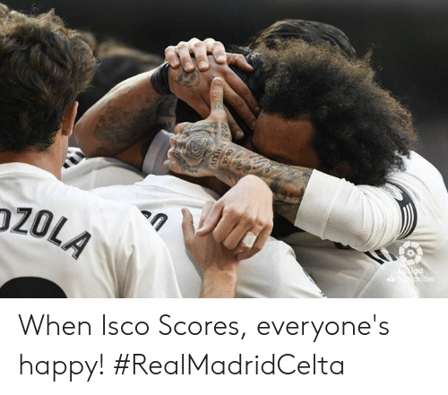 Memes, Happy, and 🤖: 20LA When Isco Scores, everyone's happy! #RealMadridCelta