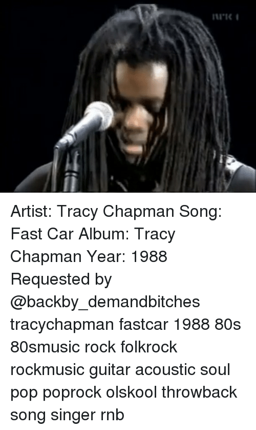 Artist Tracy Chapman Song Fast Car Album Tracy Chapman Year - Fast car artist