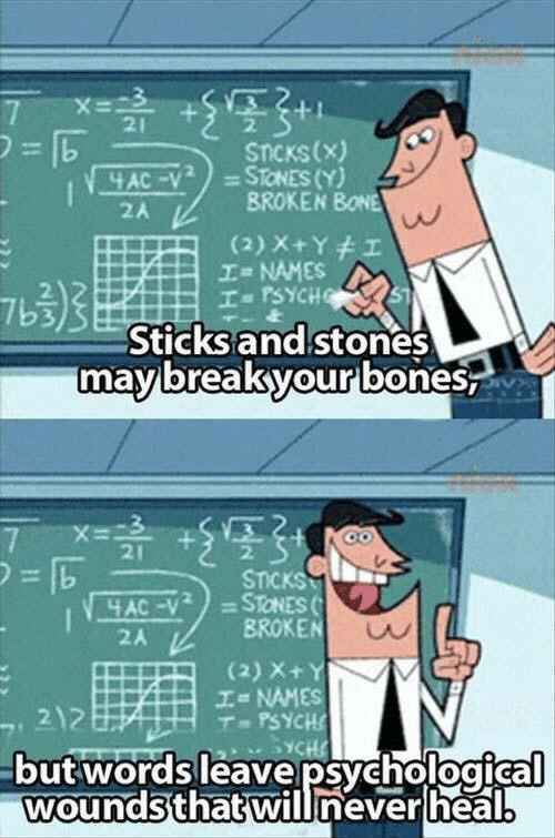 Psych, Never, and Sticks: 21  2.  STCKs(x)  BROKEN BONE  2A  NAMES  2  7b3  I PSYCH  Sticks and stones  mavbreakyourlbones  21  2.  STICKS  2A  BROKEN  (2) X+  エ= NAMES  T-PSYCH  2  butwordsleavepsychological  woundsthatwill never heal