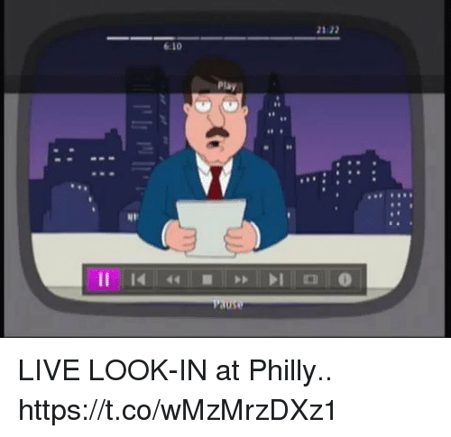 Sizzle: 21:22  6:10  Play  1 LIVE LOOK-IN at Philly.. https://t.co/wMzMrzDXz1