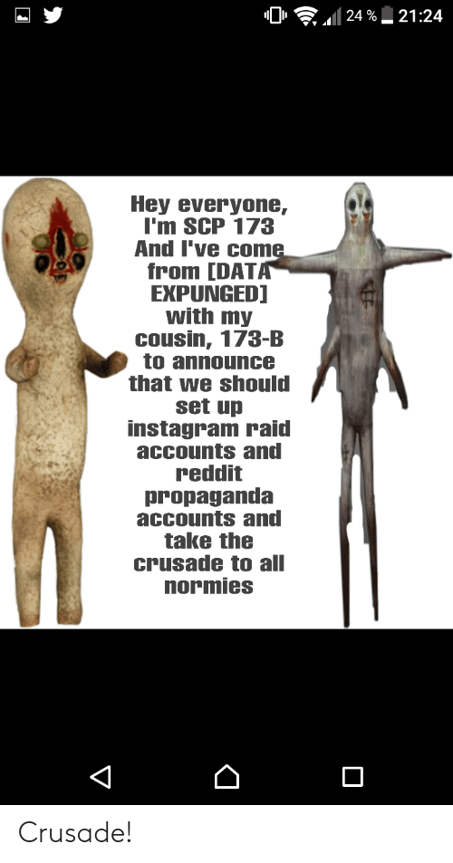 2124 24 % Hey Everyone I'm SCP 173 and I've Come From DATA
