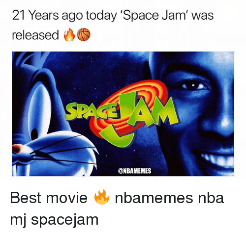 Basketball, Nba, and Sports: 21 Years ago today 'Space Jam' was  released  @NBAMEMES Best movie 🔥 nbamemes nba mj spacejam