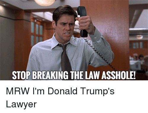 breaking the law asshole