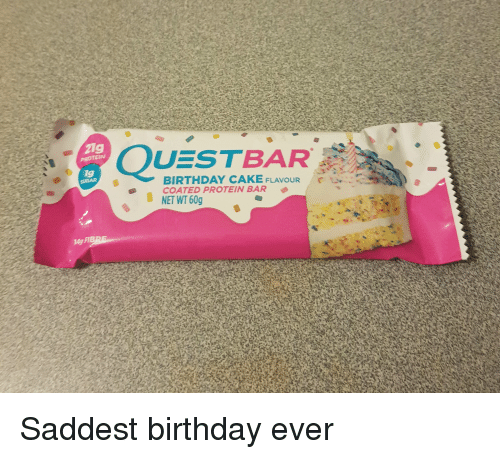 Birthday Protein And Cake 21g QUESTBAR PROTEINw 1g BIRTHDAY CAKE FLAVOUR COATED PROTEIN