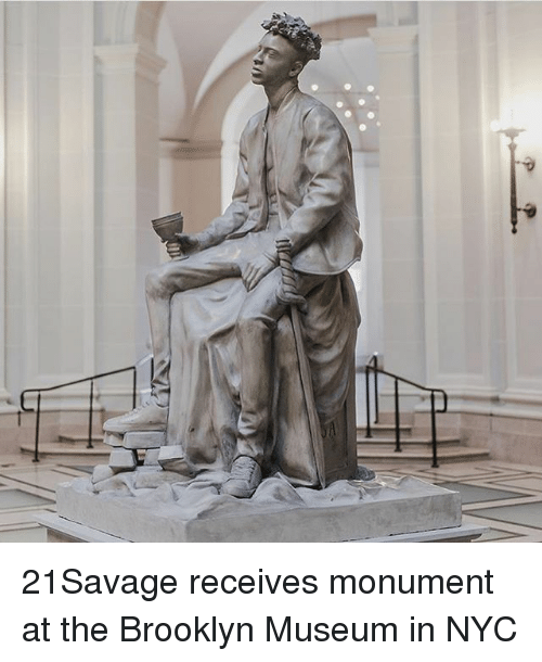 Memes, Brooklyn, and 🤖: 21Savage receives monument at the Brooklyn Museum in NYC