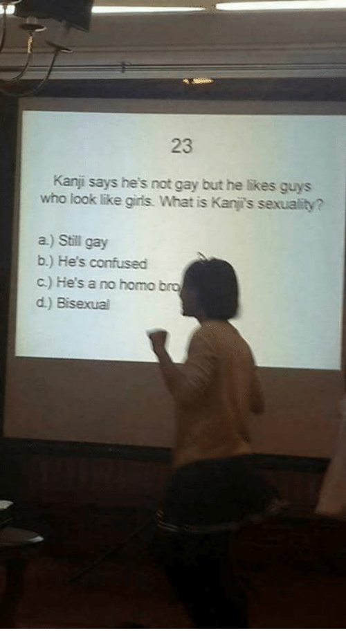 He says hes not gay