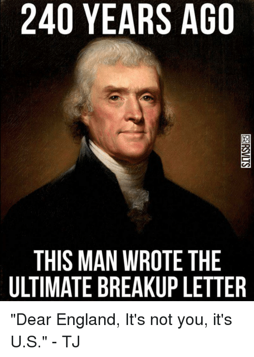 240 YEARS AGO THIS MAN WROTE THE ULTIMATE BREAKUP LETTER Dear