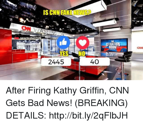 Bad, cnn.com, and News: 2445  40  ROOM  CNN After Firing Kathy Griffin, CNN Gets Bad News! (BREAKING)  DETAILS: http://bit.ly/2qFlbJH