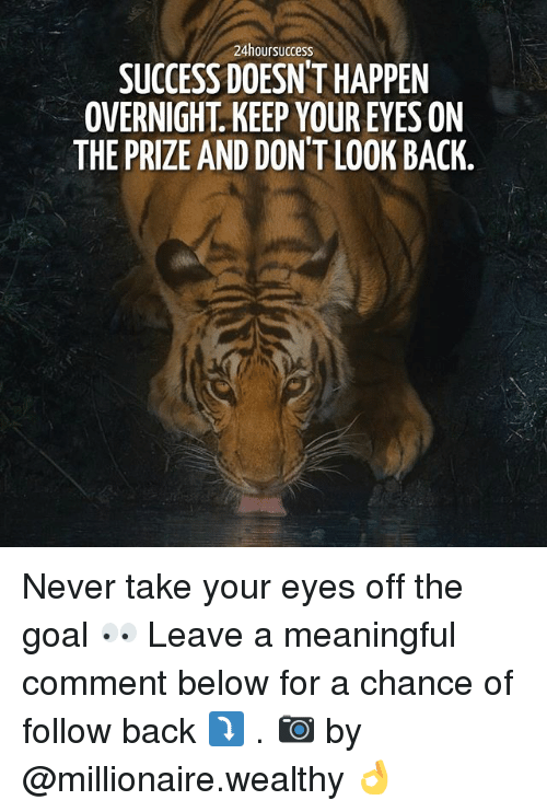 eyes on the prize