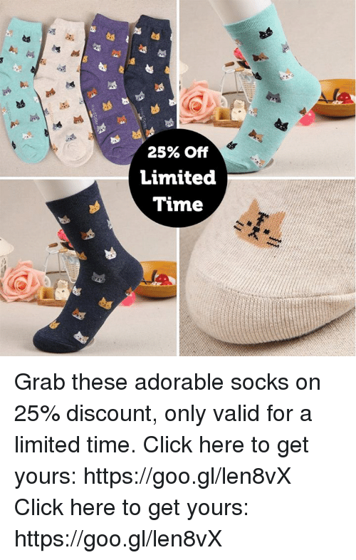 1a43c7fd6d323 25% Off Limited Time Grab These Adorable Socks on 25% Discount Only ...
