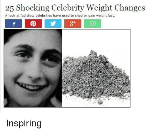 Celebrities, Celebrity, and Fast: 25 Shocking Celebrity Weight Changes  A look at fad diets celebrities have used to shed or gain weight fast.