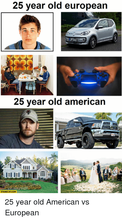 American, Old, And Terrible Facebook: 25 Year Old European 25 Year Old  American