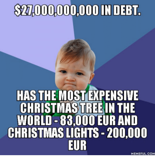 Xev Bellringer Christmas.27000000000 In Debt Has The Most Expensive Christmas Tree