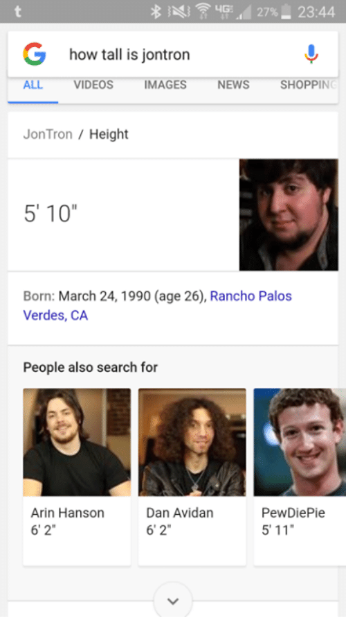 27 23 44 g how tall is jontron all videos mages 6968794 27% 2344 g how tall is jontron all videos mages news shopping jon