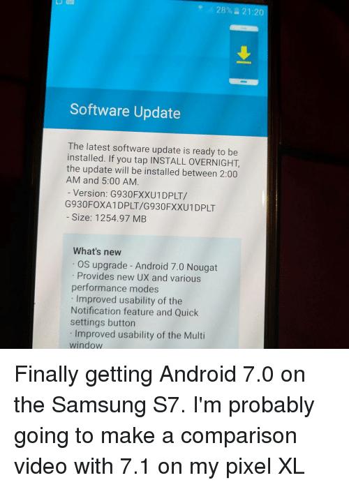 28% 2120 Software Update the Latest Software Update Is Ready to Be
