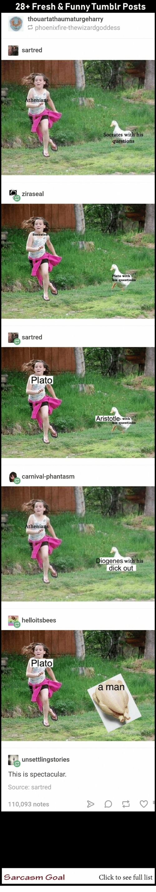 Click, Fresh, and Funny: 28+ Fresh & Funny Tumblr Posts  thouartathaumaturgeharry  phoenixfire-thewizardgoddess  sartred  s with his  questions  ziraseal  with  sartred  Plato  Aristotle with  carnival-phantasm  thenia  enes with his  dick out  helloitsbees  Plato  a man  unsettlingstories  This is spectacular  Source: sartred  10,093 notes  Sarcasm Goal  Click to see full list