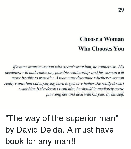 Certainly which Who Woman A Man Wants A accordance with the