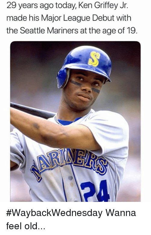 47642ba409 29 Years Ago Today Ken Griffey Jr Made His Major League Debut With ...