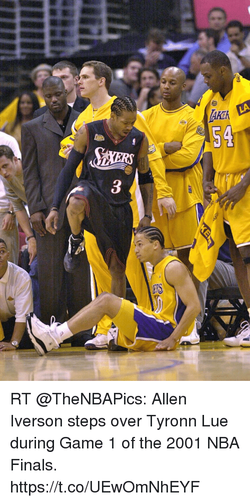 2K AKER Co RT Allen Iverson Steps Over Tyronn Lue During Game 1 of ... 4f86b21bc