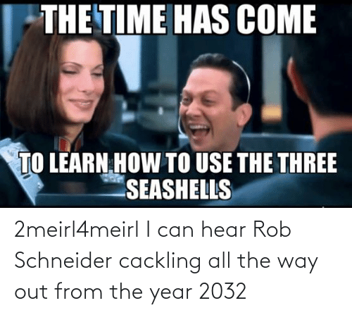 All The, Rob Schneider, and Can: 2meirl4meirl I can hear Rob Schneider cackling all the way out from the year 2032
