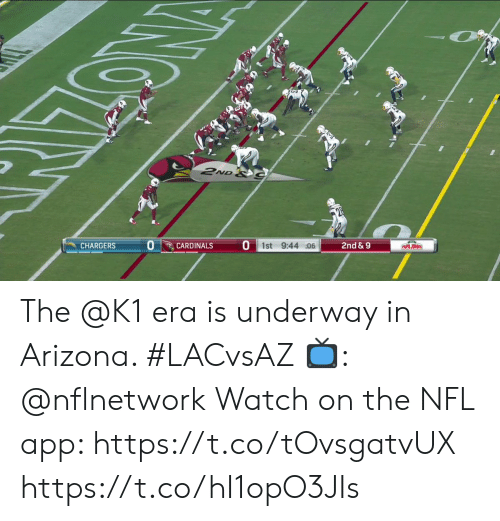 Memes, Nfl, and Arizona: 2ND &C  2nd&9  PAPA JOHNS  O 1st 9:44 :06  CARDINALS  CHARGERS The @K1 era is underway in Arizona. #LACvsAZ  📺: @nflnetwork Watch on the NFL app: https://t.co/tOvsgatvUX https://t.co/hI1opO3JIs