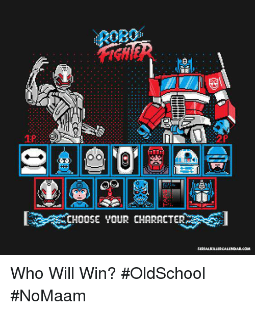 Memes, 🤖, and Oldschool: 2P  2P  CHOOSE YOUR CHARACTER Who Will Win? #OldSchool #NoMaam