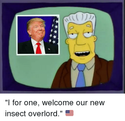 3 %E4%B9%80 %E4%B9%80 i for one welcome our new insect 6304105 memes meme '3 乀 乀 i for one welcome our new insect overlord,I For One Welcome Meme