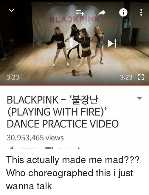 323 323 Blackpink Playing With Fire Dance Practice Video