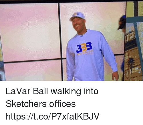 Sports, Sketchers, and Ball: 3 3 LaVar Ball walking into Sketchers offices https://t.co/P7xfatKBJV