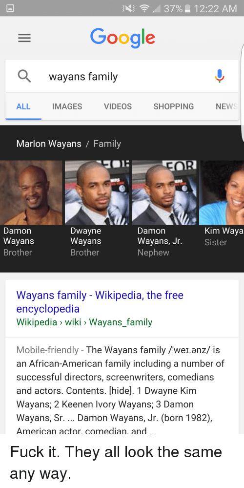 wayans brothers family