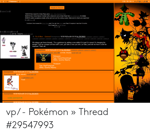 3 9930584 Vg Pokémon Reply to Thread Rm 100416 New Board for 4chan