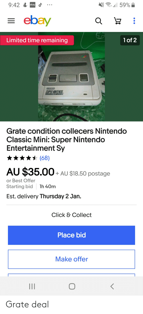 3 All 59 942 Ebay Cf Ebay Limited Time Remaining Lof 2 Eject Reset Nintendd Super Nintendo Tertainnent System Grate Condition Collecers Nintendo Classic Mini Super Nintendo Entertainment Sy