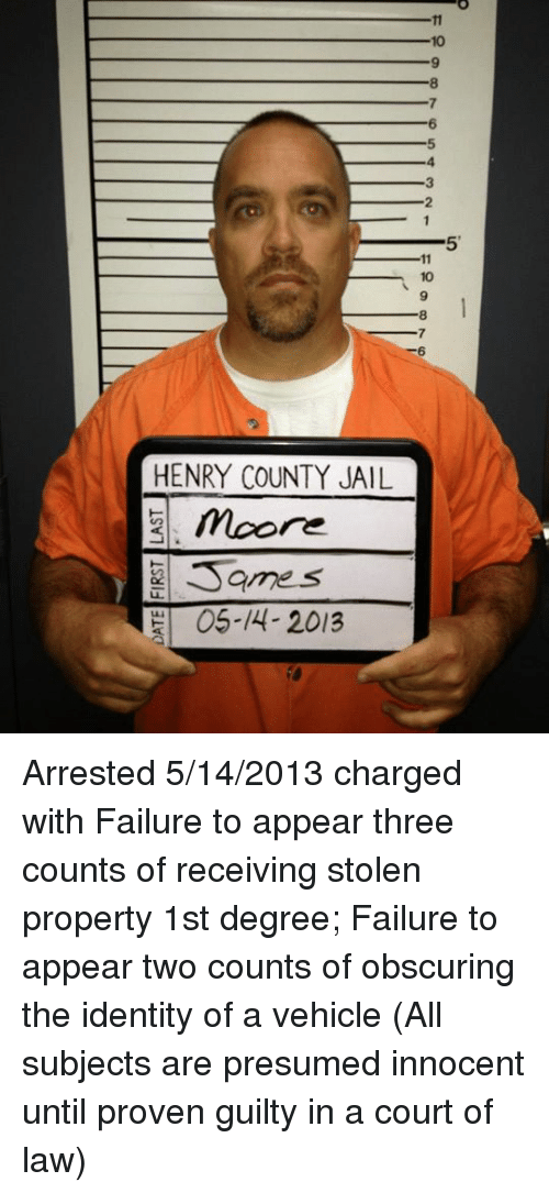 3 HENRY COUNTY JAIL 2 Moore Samos OS 4- 2013 Arrested 5142013