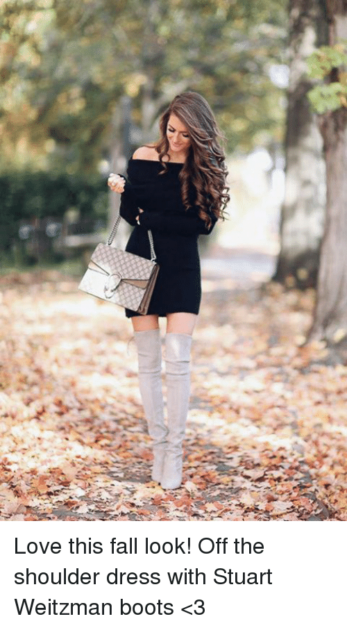 5ed8711e247 3 Love This Fall Look! Off the Shoulder Dress With Stuart Weitzman ...