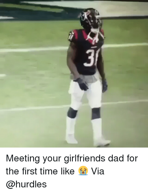 Dad, Funny, and Time: 3 Meeting your girlfriends dad for the first time like 😭 Via @hurdles